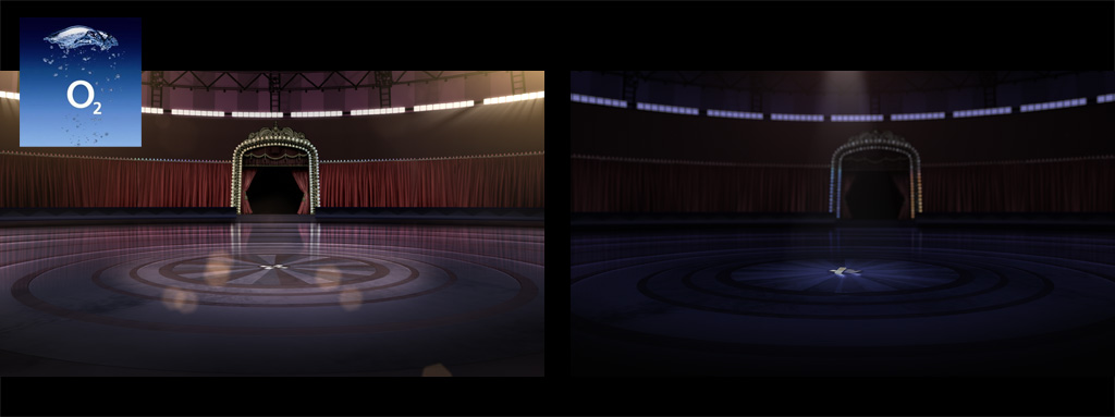 Background painting for O2 commercial