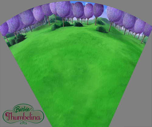 Background painting for Barbie Thumbelina
