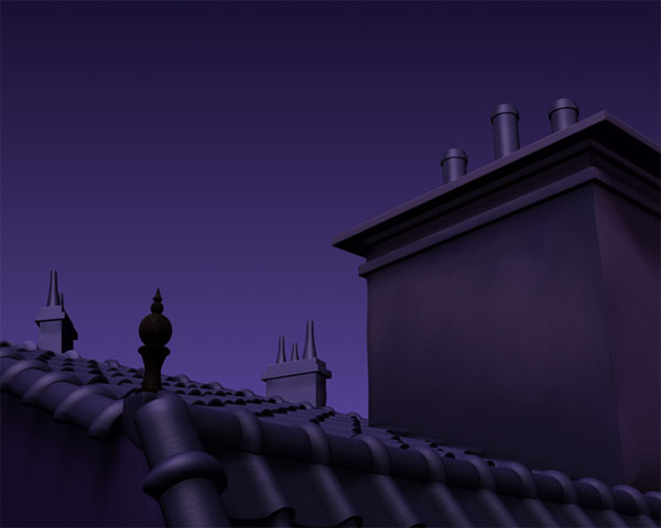 Background matte-painting for the short film